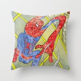 Noodle Spider Throw Pillow