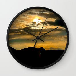 Bronco Sunset Wall Clock