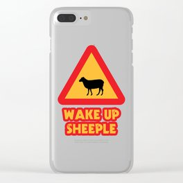 WAKE UP SHEEPLE Clear iPhone Case