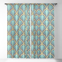 Vintage seashell tapestry - Prince Charming Sheer Curtain