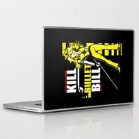 kill bill Laptop & iPad Skins featuring Kill Bullet Bill (Black/Yellow Variant) by Shana-Lee