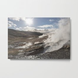 Thermal Mist Metal Print