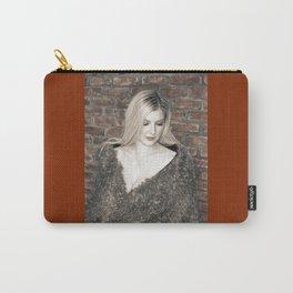 Alyssa in Wintery Faux Fur Carry-All Pouch