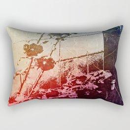 Hollyhocks II Rectangular Pillow