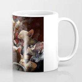 Cats play poker Coffee Mug
