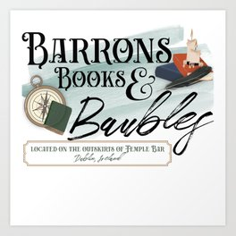 Barrons Books & Baubles Art Print