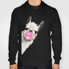 Bubble Gum Sneaky Llama Hoody