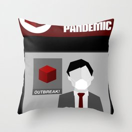 Pandemic - Red Throw Pillow