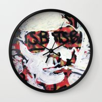 bats Wall Clocks featuring Bats by Matt Pecson