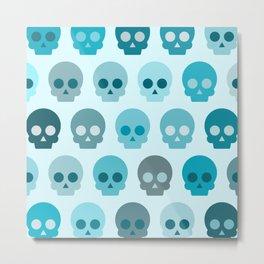 Colorful Skull Cute Pattern II Metal Print