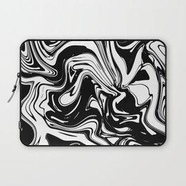 Liquid Marble B&W 028 Laptop Sleeve