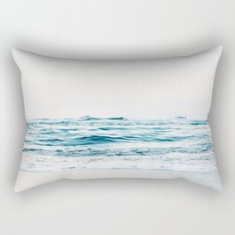 Sea water blue 8 Rectangular Pillow