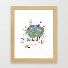 Fight Cloud Framed Art Print