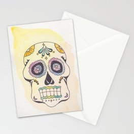 Watercolor Skull in Sun Stationery Cards