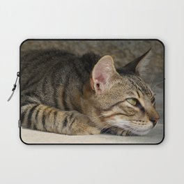 Thoughtful Tabby Cat Laptop Sleeve