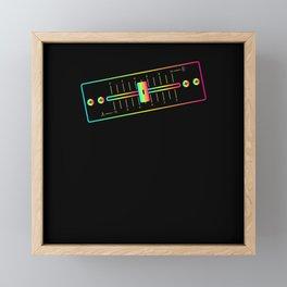 DJ Crossfader Framed Mini Art Print