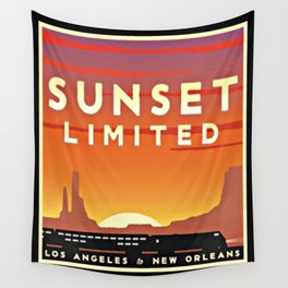 Vintage poster - Sunset Limited Wall Tapestry