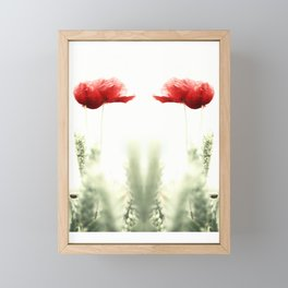 Poppy Poppies Mohn Mohnblume Framed Mini Art Print