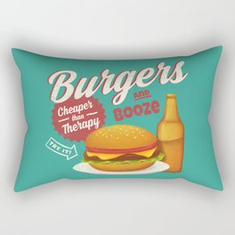 Burgers and Booze Rectangular Pillow