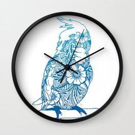 Henna Cockatiel - White background Wall Clock