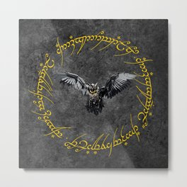 Eagle The Dark Lord Metal Print
