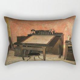 Antique Nautical Desk  Rectangular Pillow