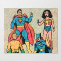 heroes Canvas Prints featuring Heroes by Saint Lepus