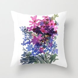 Dark Pinks and Blues Throw Pillow