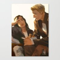 stucky Canvas Prints featuring Stucky, Warm Afternoon by MMCoconut