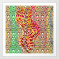 wizard Art Prints featuring Wizard by Lizzy Koury