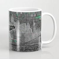 las vegas Mugs featuring las vegas by Bekim ART