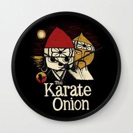 the karate onion Wall Clock