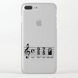 Strange Time Clear iPhone Case