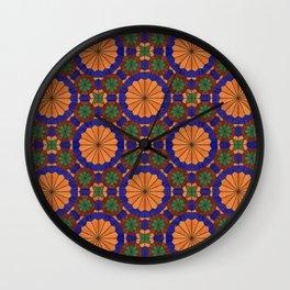 Arg of Karim Khan Zand Stained Glass Wall Clock