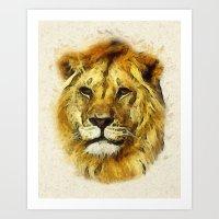 Lion - Animal Faces Art Print