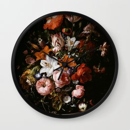 Flowers in Vase - Oil Paint Wall Clock
