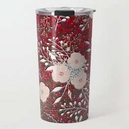 Red Gypsy Sparkle | Chic Floral | Confetti Flowers Travel Mug