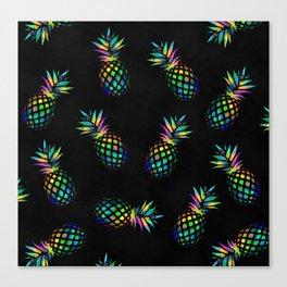 Iridescent pineapples Canvas Print