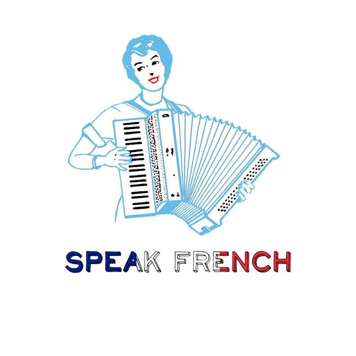 Speak French Duvet Cover