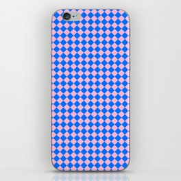 Cotton Candy Pink and Brandeis Blue Diamonds iPhone Skin