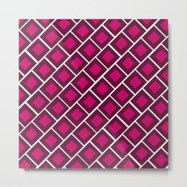 Double squares of red Metal Print