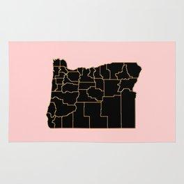 Oregon map Rug