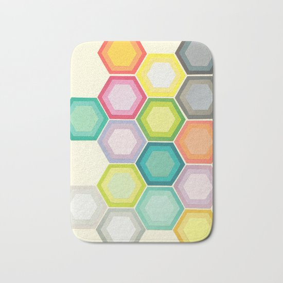 Honeycomb Layers Bath Mat