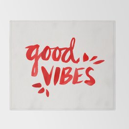 Good Vibes – Red Ink Throw Blanket
