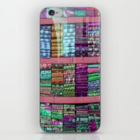 fabric iPhone & iPod Skins featuring FABRIC by Louisa Rogers