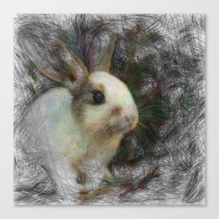 Artistic Animal Bunny 2 Canvas Print