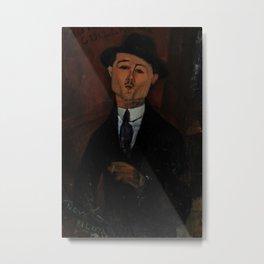 Amedeo Modigliani - Paul Guillaume, Novo Pilota Metal Print