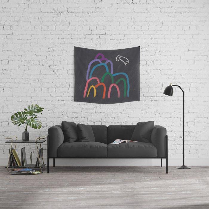 Rainbow Mountain Wall Tapestry