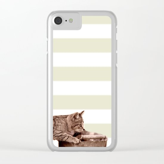 Cat Play Clear iPhone Case