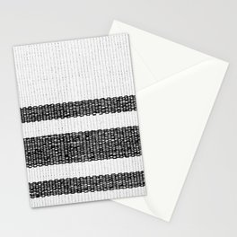 Woven Stripes Black and White Stationery Cards
